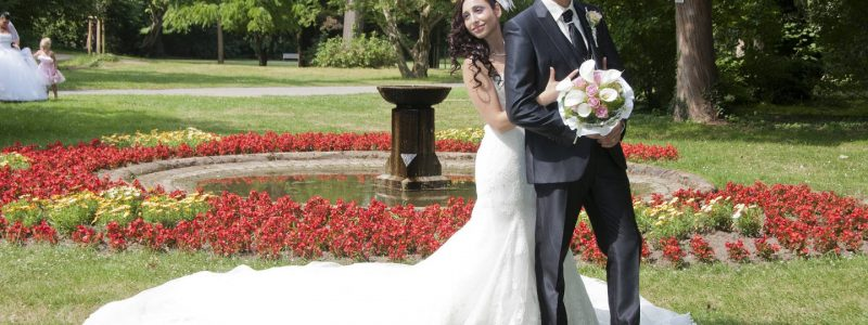 couple mariage cravate