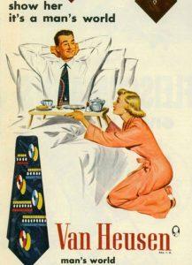Publicité de cravate années 50