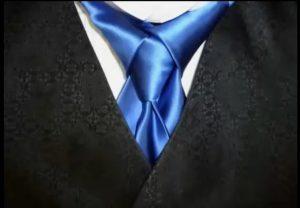 nœud de cravate Mérovingien bleu