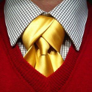 nœud de cravate Mérovingien jaune