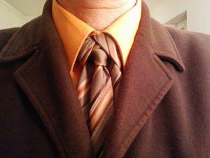 nœud de cravate Mérovingien orange
