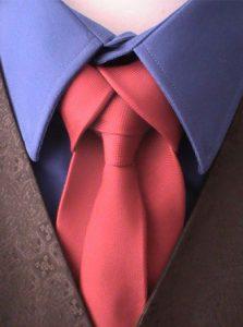 nœud de cravate Mérovingien rouge